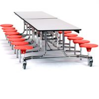 77_MTS12-Grey-Top,-Red-Stools,-Chrome-Frame